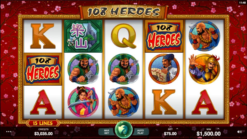 108 Heroes Slots Online