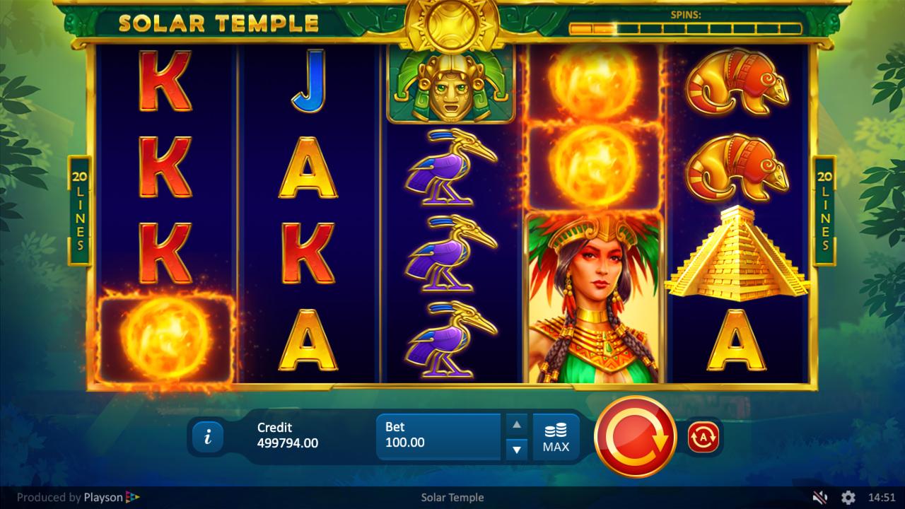 Solar Temple Slots Games