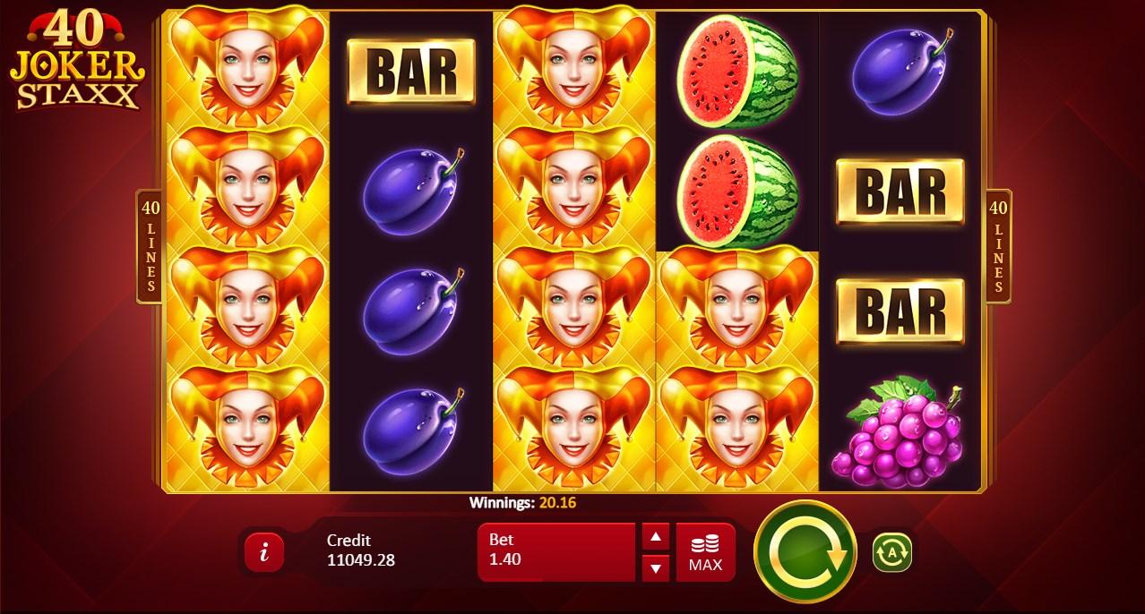40 Joker Staxx Slots UK