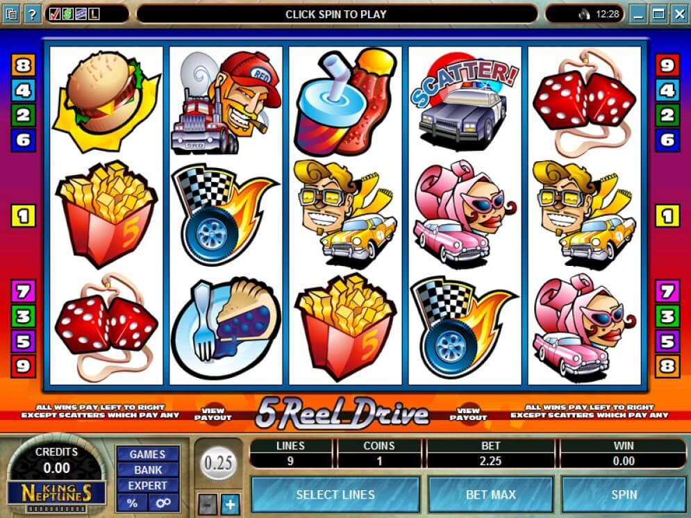 5 Reel Drive Slots Online