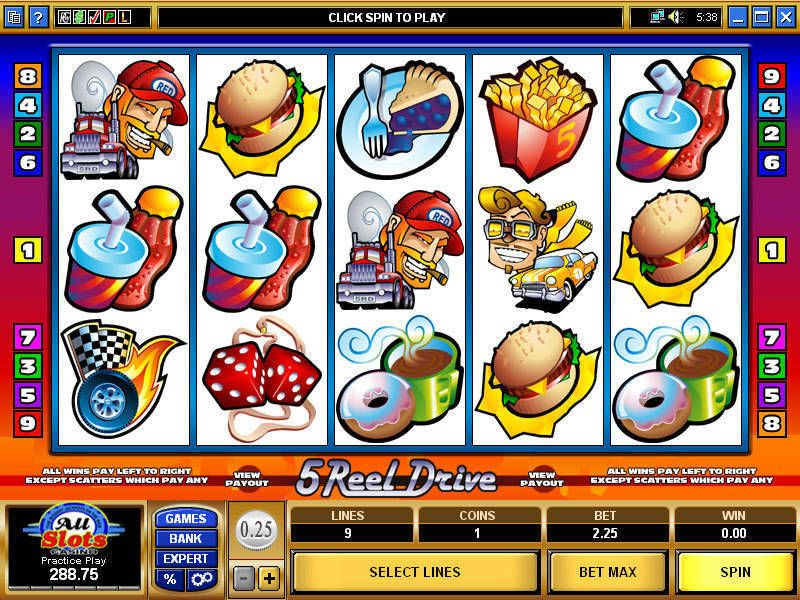 5 Reel Drive Slot Game