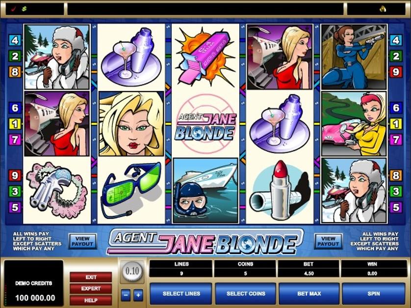 Agent Jane Blonde Slots Online