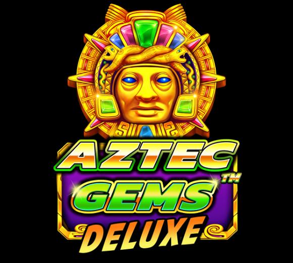 Aztec Gems Deluxe Slot Logo Umbingo