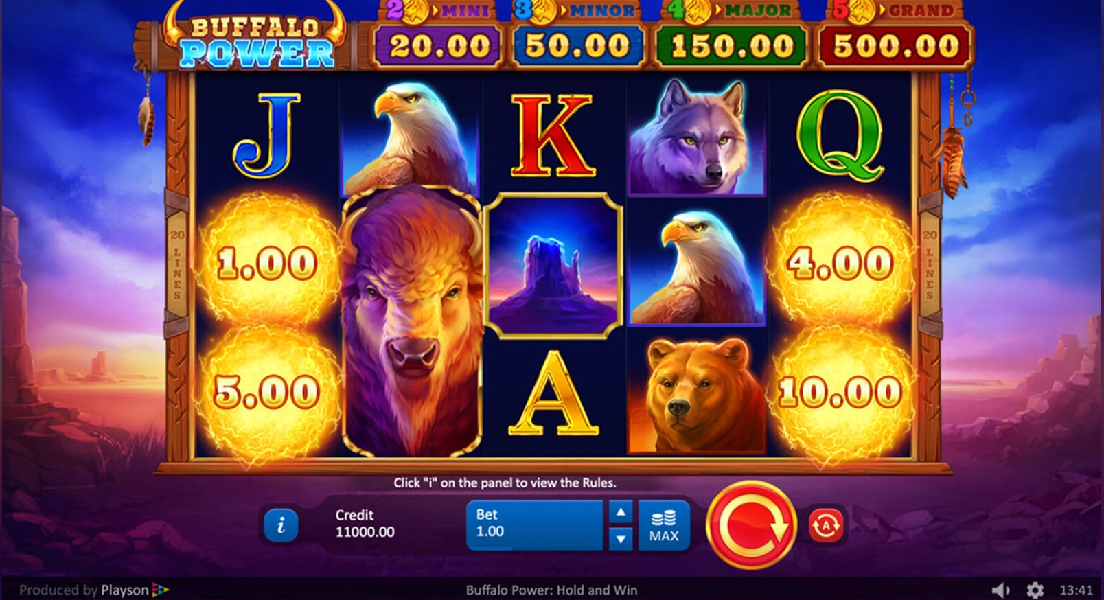 Buffalo Power Hold and Win Slots Reels