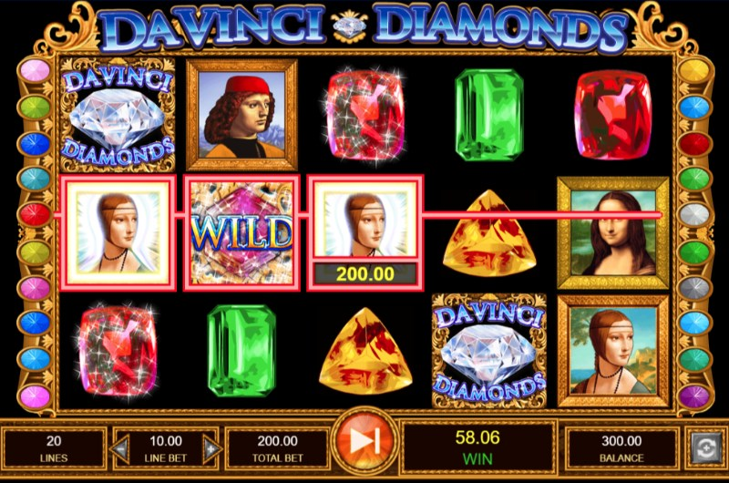 Double Da Vinci Diamonds UK Casino gameplay