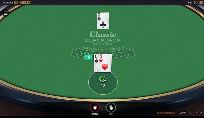 Classic Blackjack Casino Game