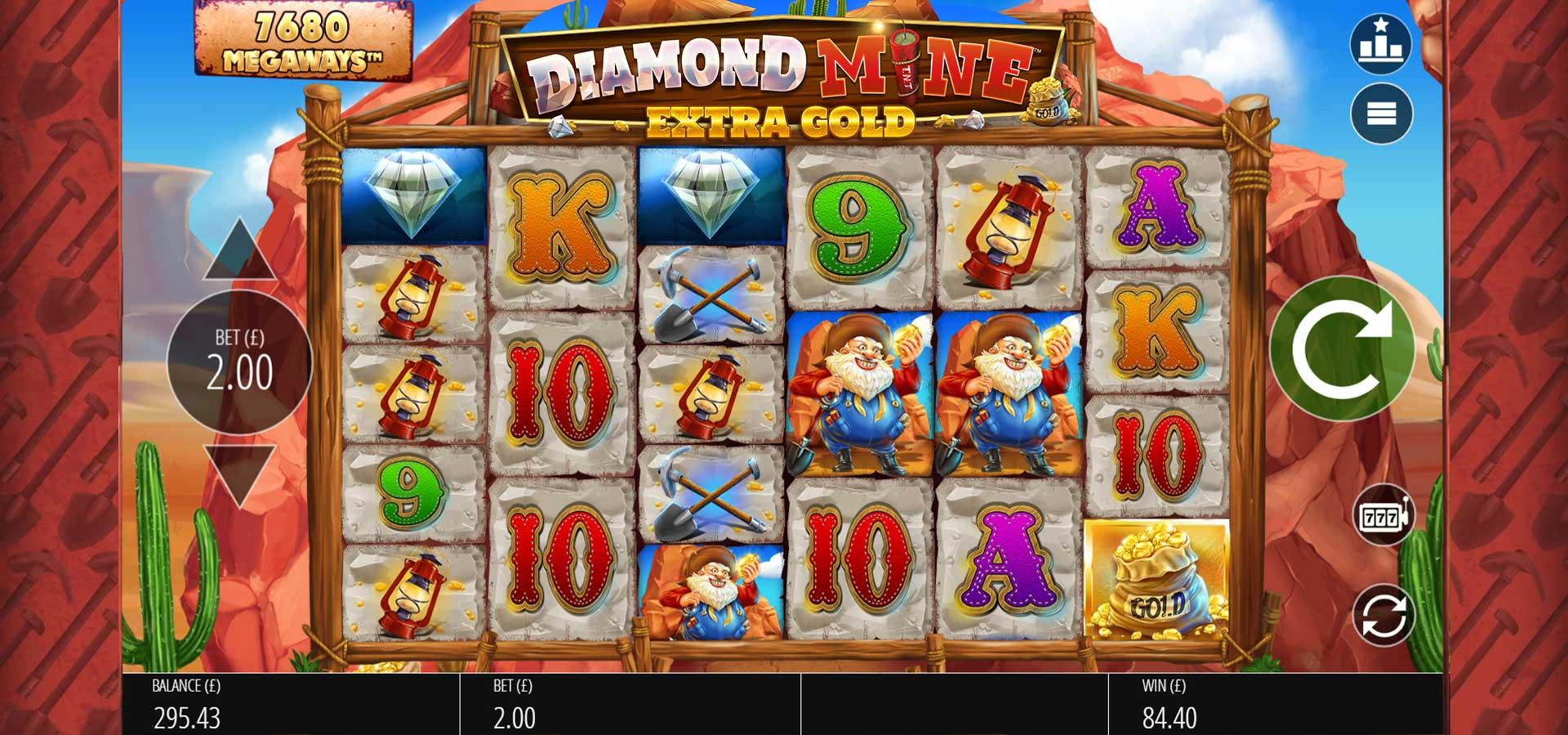 Diamond Mine: Extra Gold Slots Game