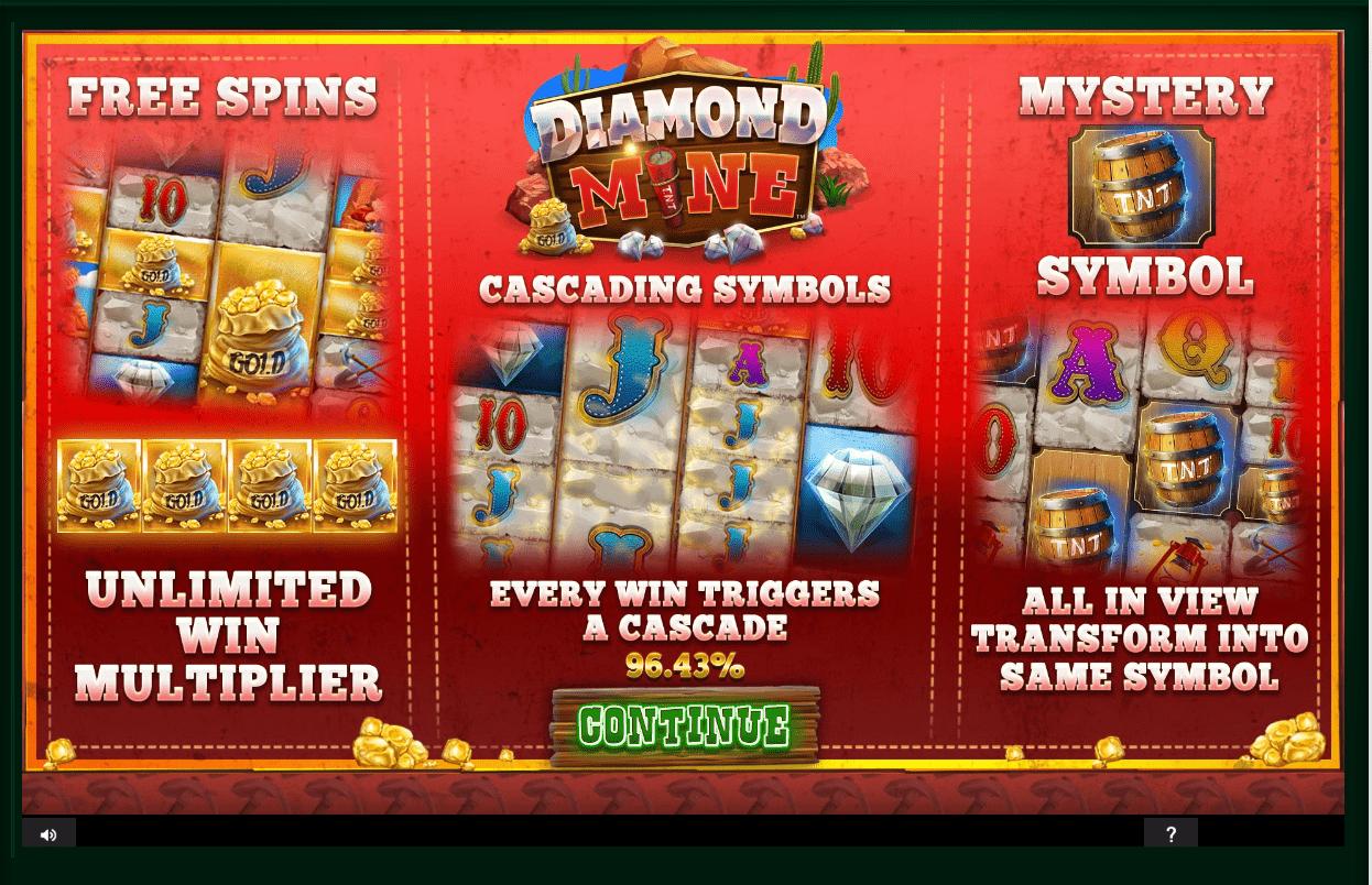 Diamond Mine Slot Bonus Features