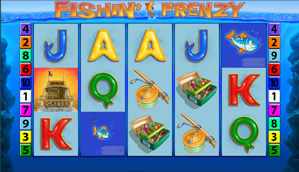 fishin frenzy gameplay umbingo