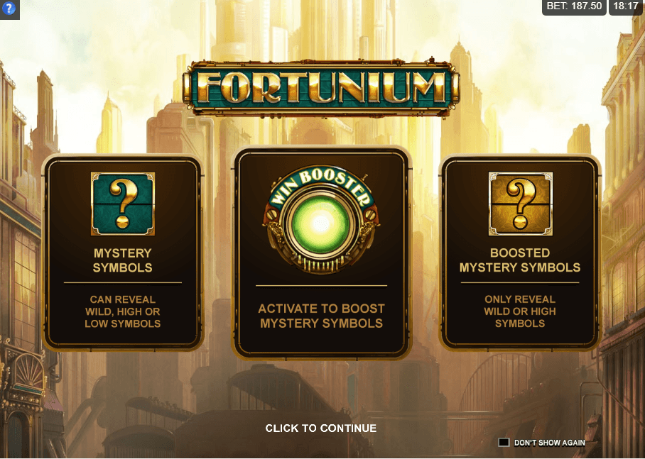 Fortunium Slots Bonus Features