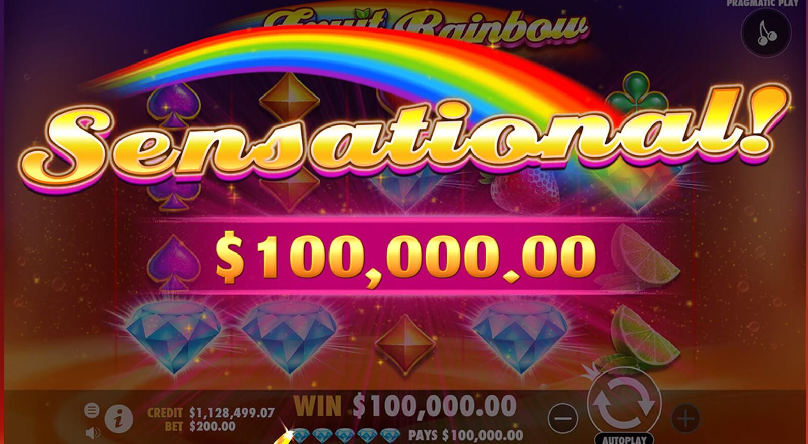 Fruit Rainbow Slot Big Win
