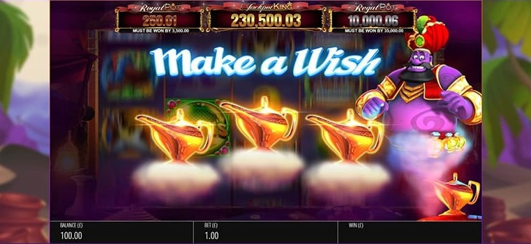 Genie Jackpots JPK Slot Gameplay
