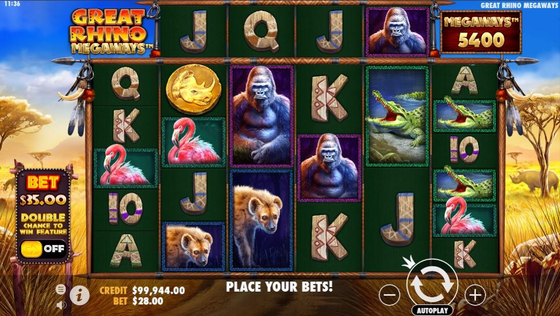 Great Rhino Megaways Slots Game
