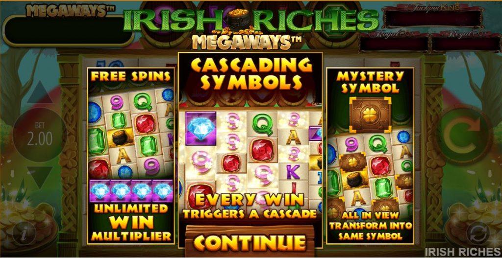 Irish Riches Megaways Slot Bonus Features
