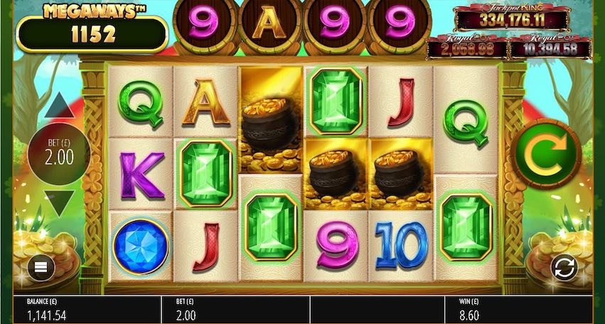 Irish Riches Megaways Slot gameplay