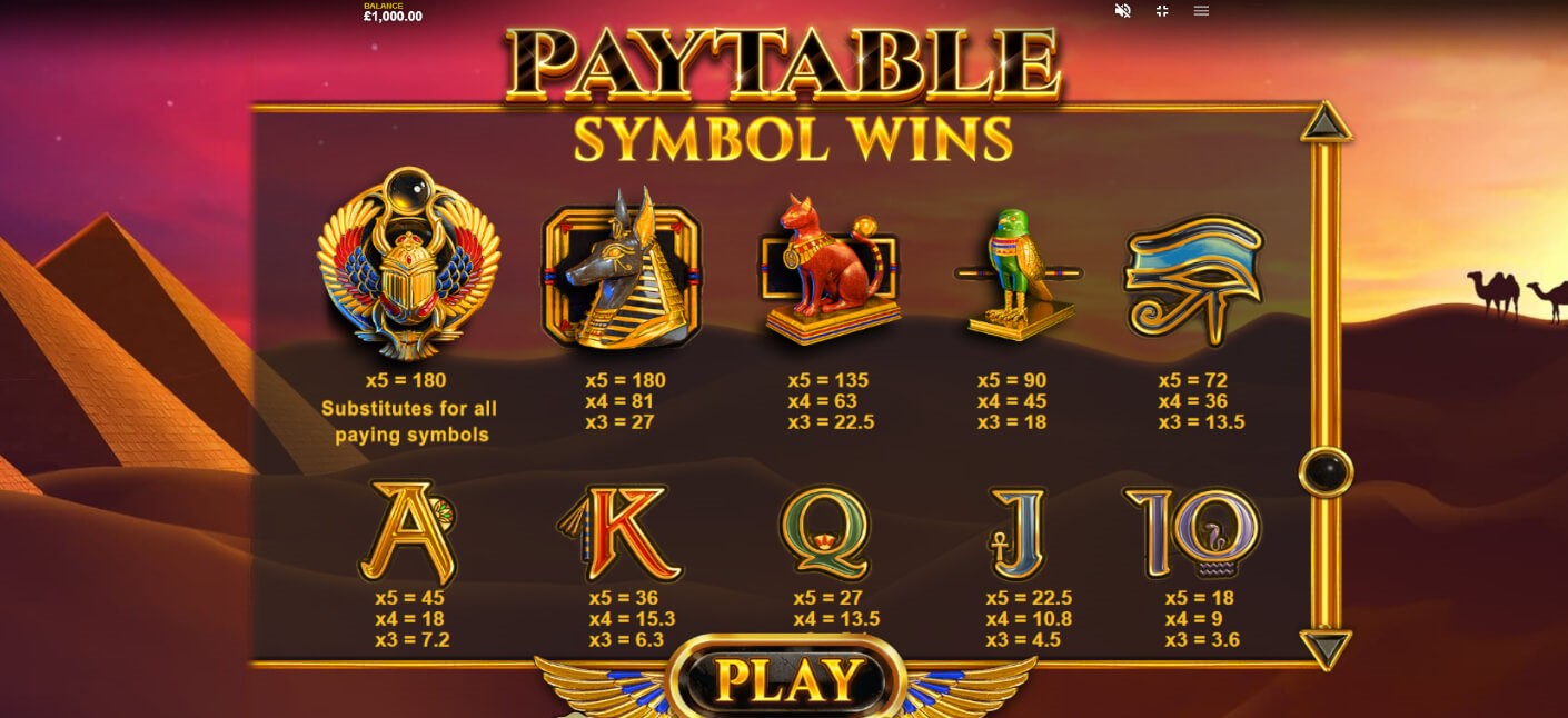 Jewel Scarabs Slot Symbols