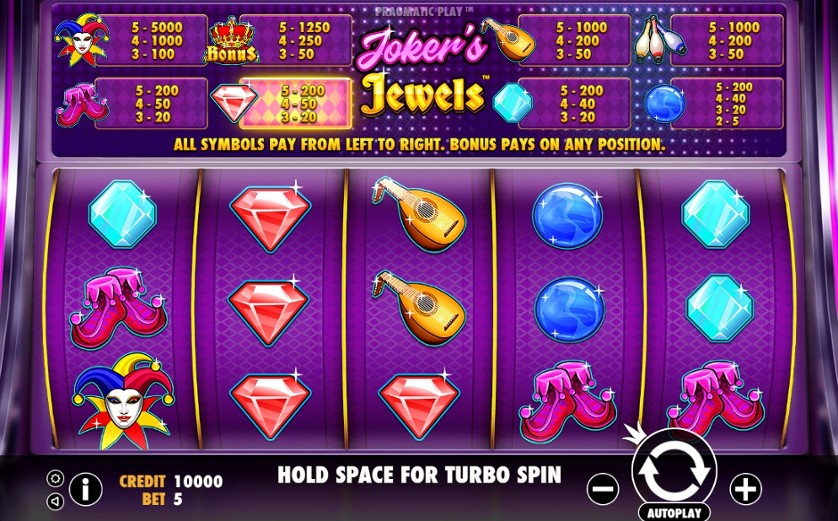 Joker's Jewels Slots UK