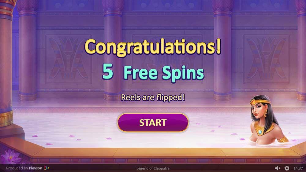 Legends of Cleopatra Slot Free Spins