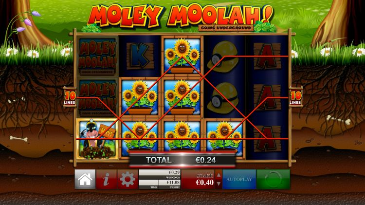 Moley Moolah! Slot Gameplay