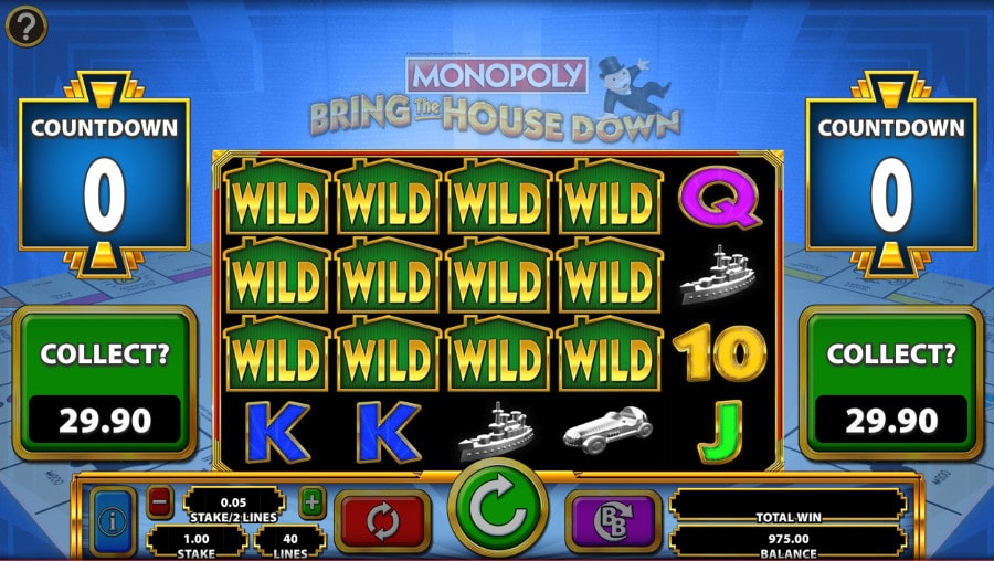 Monopoly Bring The House Down Slot Big Win