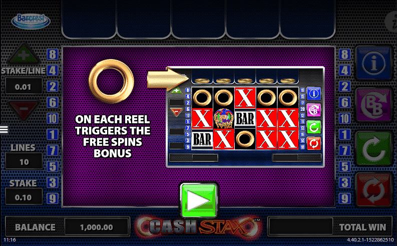 Cash Stax Slots Game