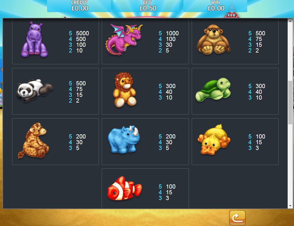 Fluffy Too Mega Jackpot Slot Symbols
