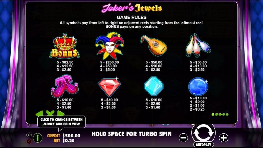 Joker's Jewels Slots Online