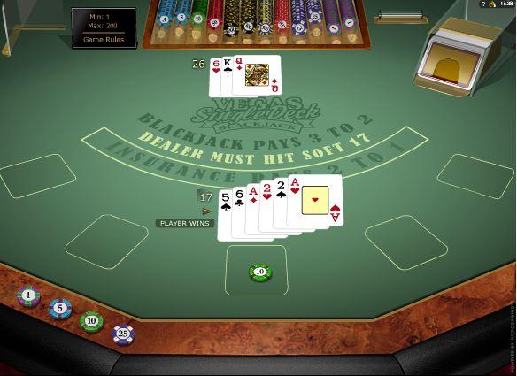Vegas Single Deck Blackjack Online