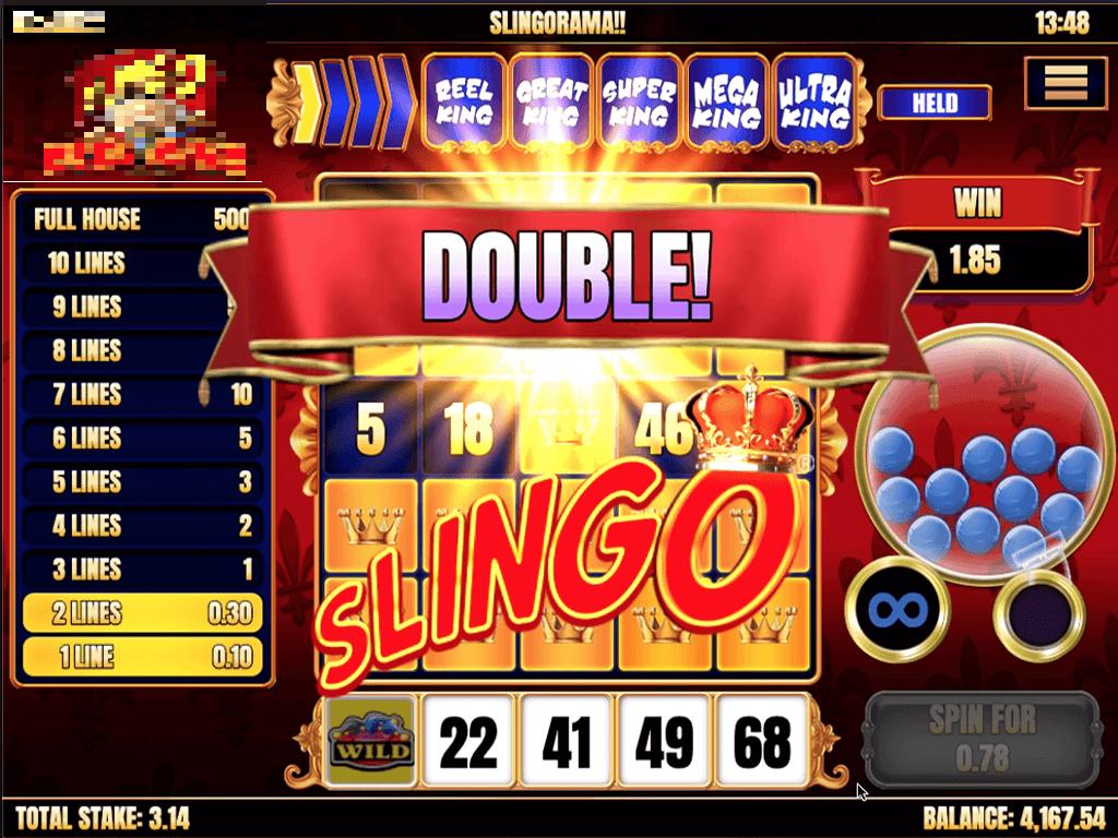 Slingo Reel King Slot Wins