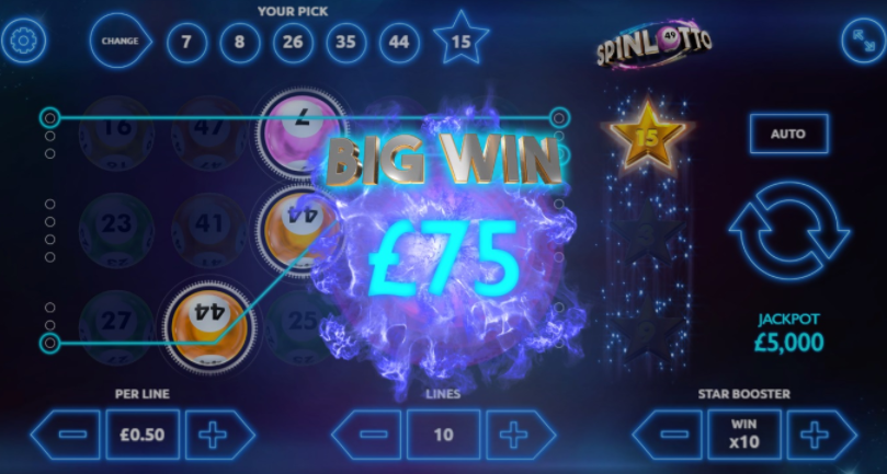 Spinlotto Slots Big Win