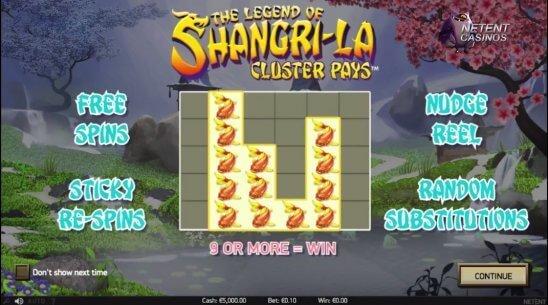 The Legend of Shangri-La Slot Bonus
