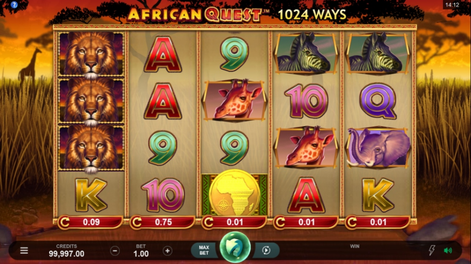 African Quest Slots UK Game