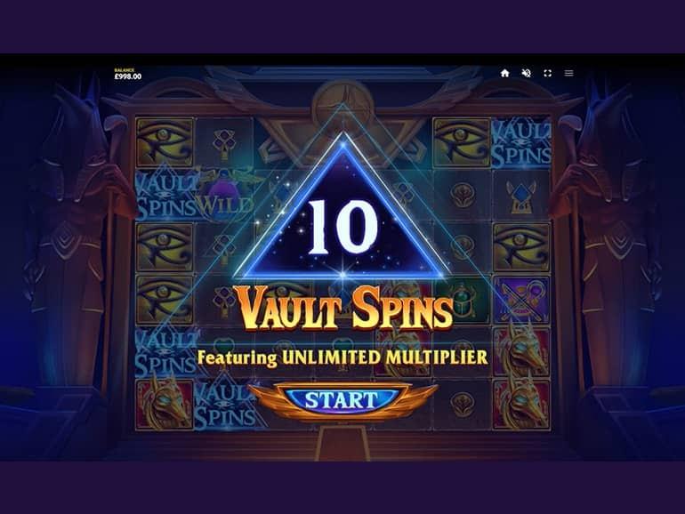 Vault of Anubis Free Spins Slots