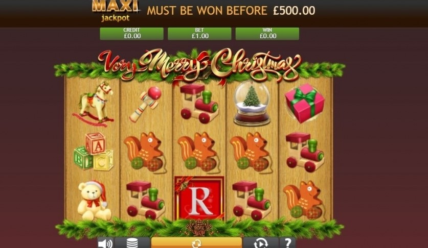 Very Merry Christmas Jackpot Slots Reels