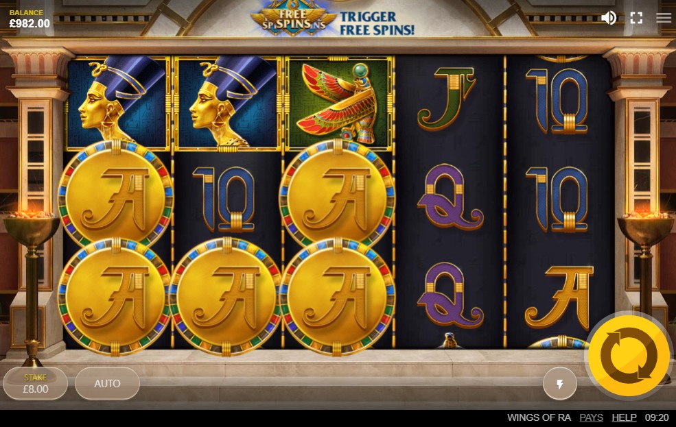 Wings of Ra Slots Casino