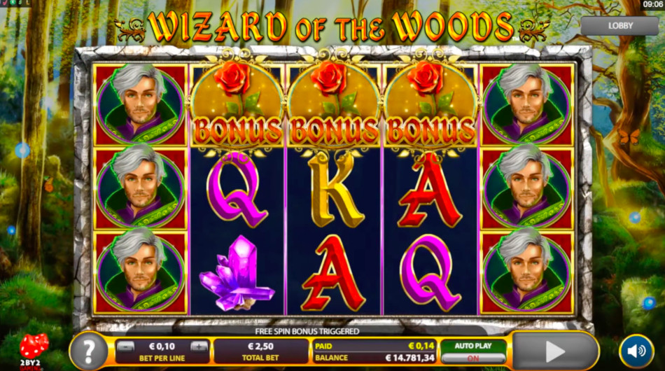 Wizard of the Woods Free Slot