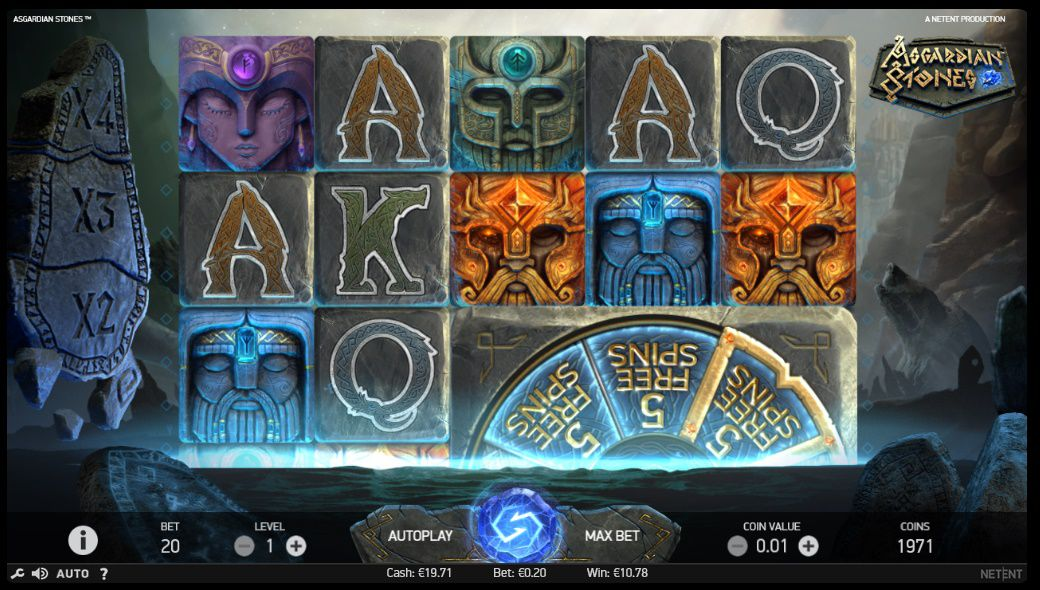 Asgardian Stones gameplay slot