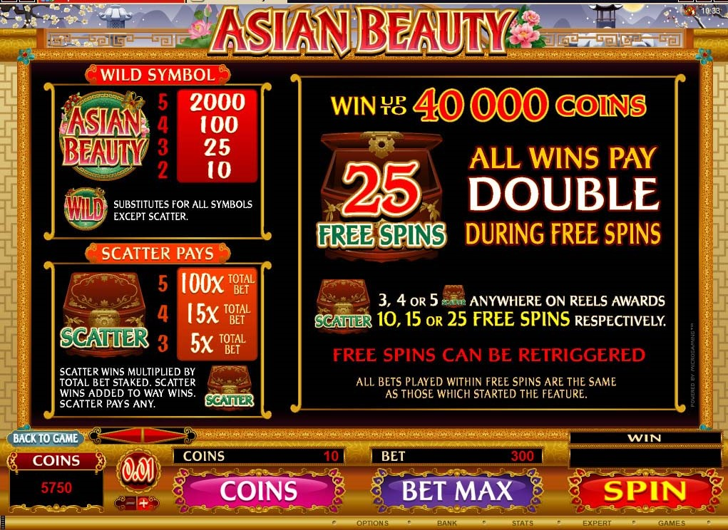 Asian Beauty Slots UK