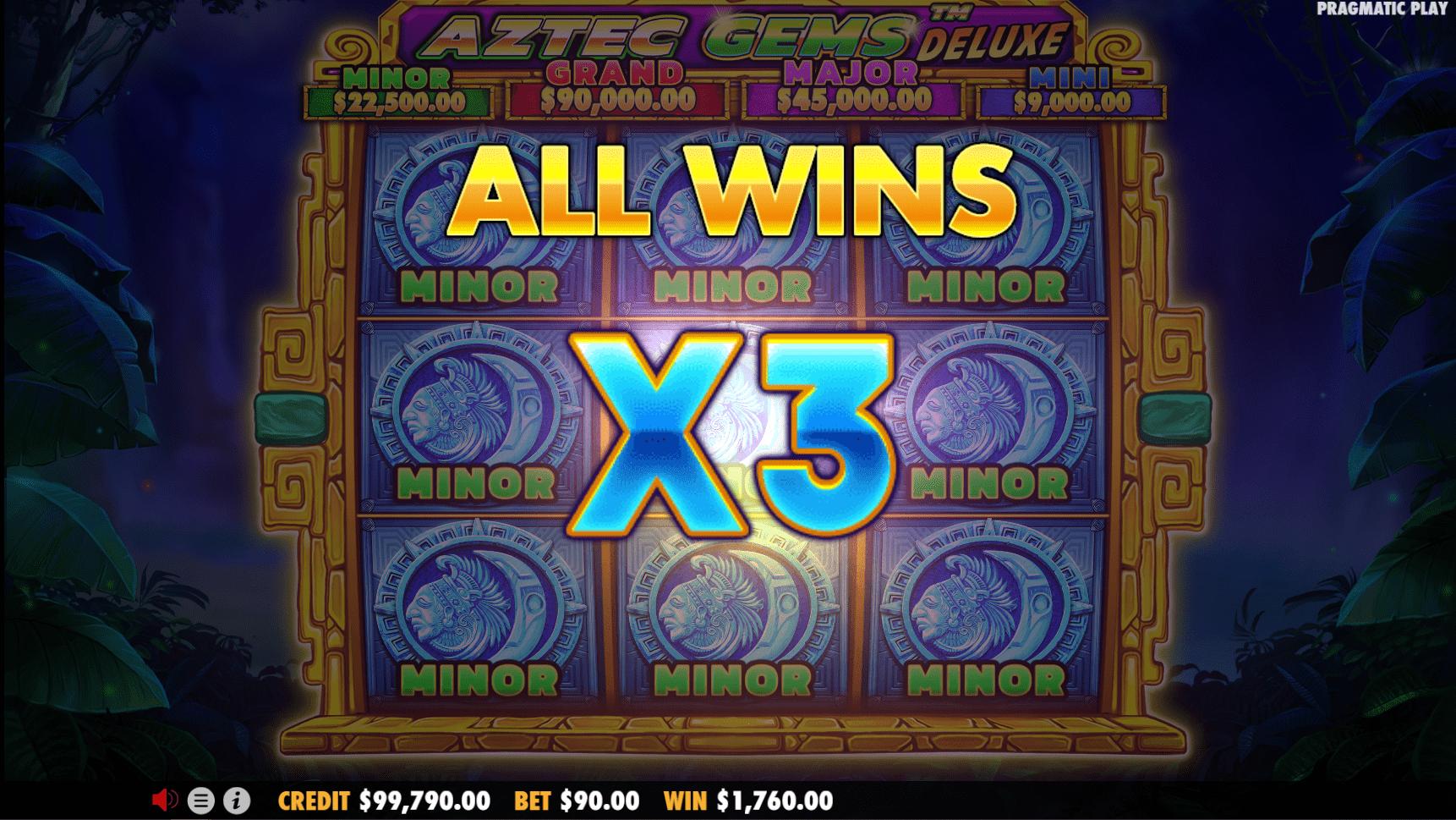 Aztec Gems Deluxe Slot Big Win