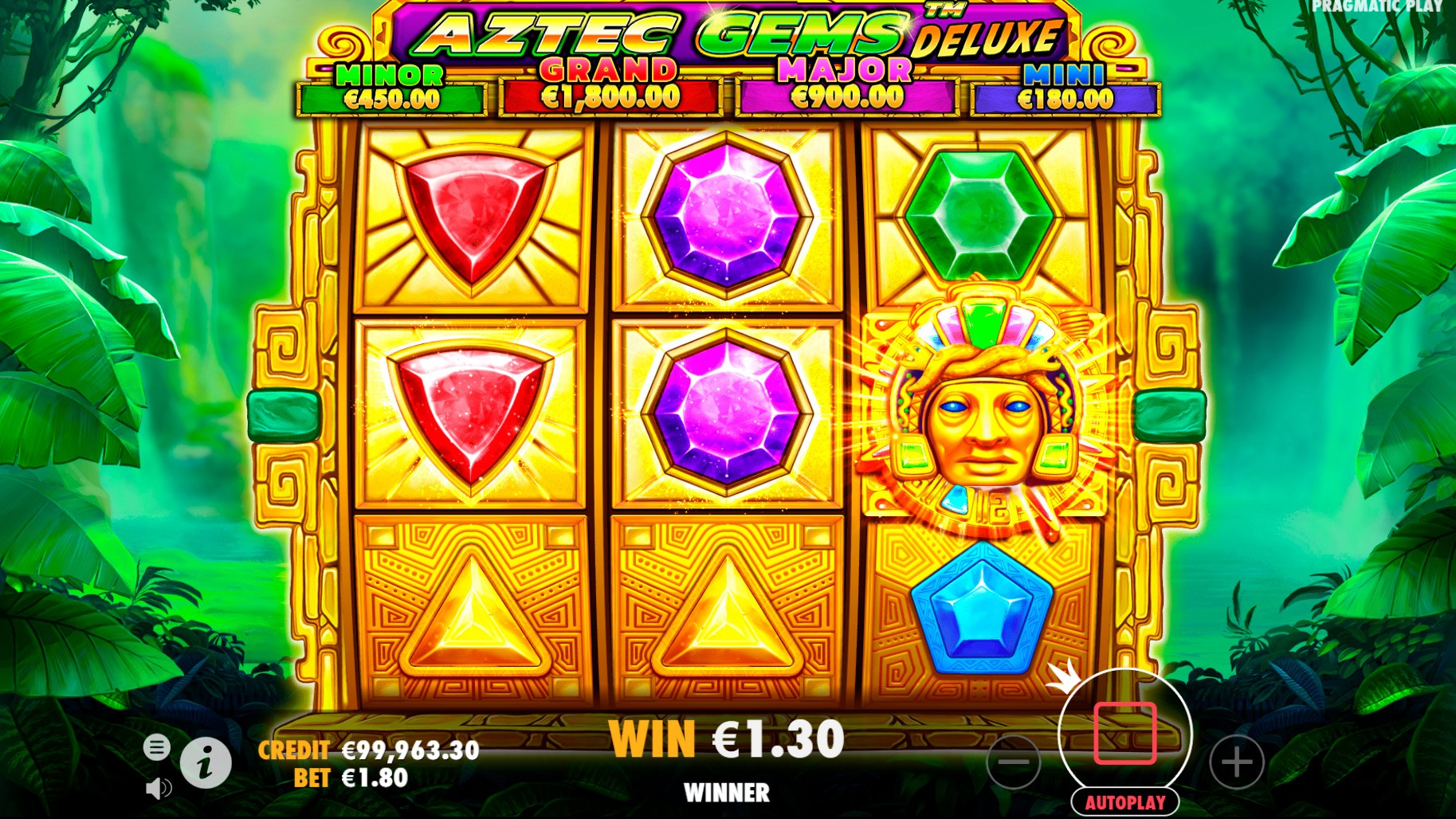 Aztec Gems Deluxe Slot Game Play