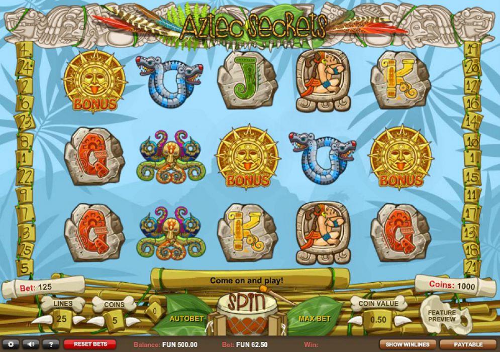 Aztec Secrets Slot Games