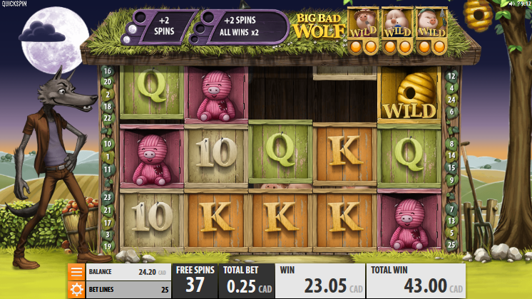 Big Bad Wolf slot gameplay