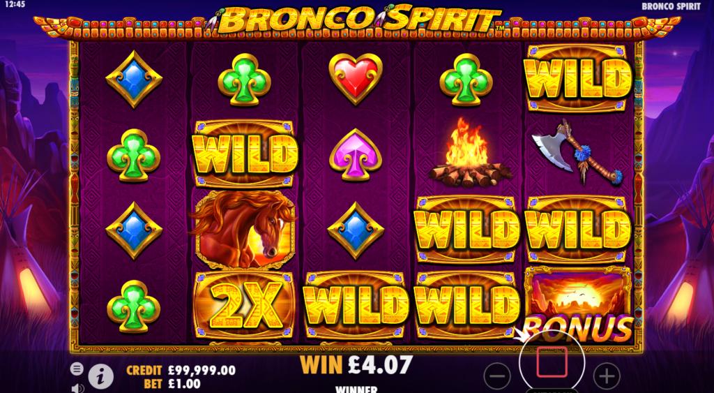 Bronco Spirit Slots Game