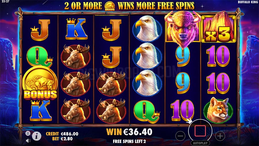 Buffalo King Casino Game Play