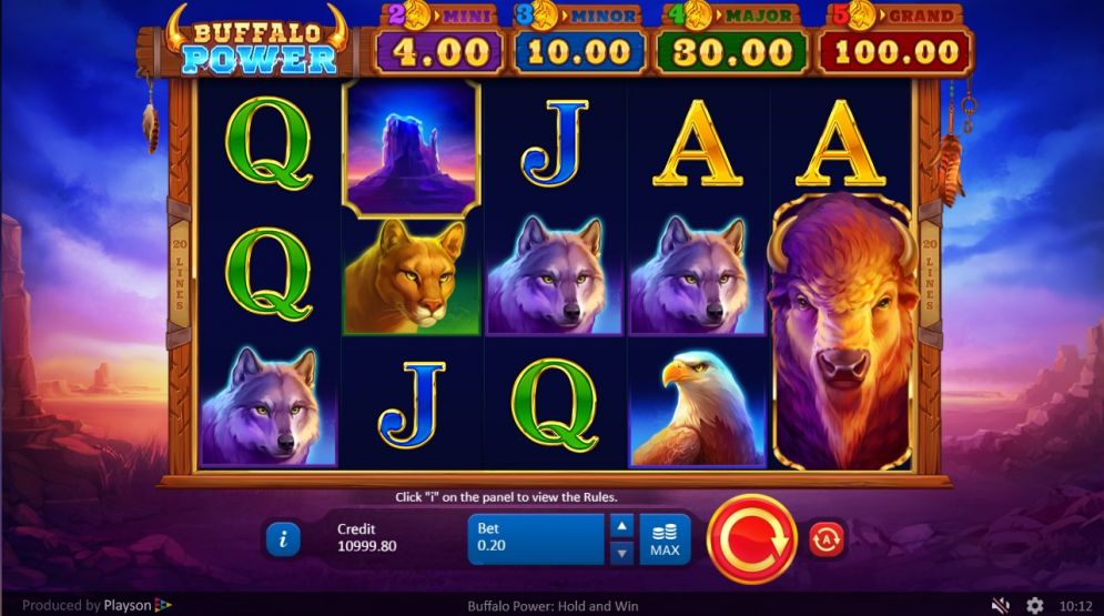 Buffalo Power Hold and Win Slot Game Play