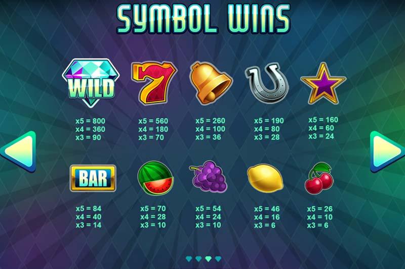 Diamond Blitz Slot Symbols