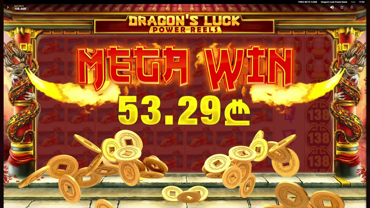 Dragon's Luck Power Reels Slots Win