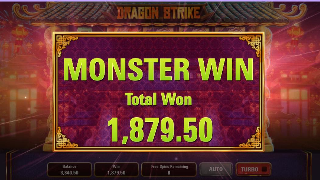 Dragon Strike Slot Win