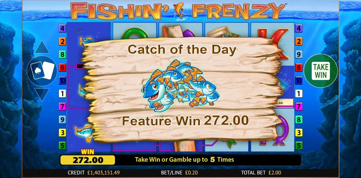 fishin frenzy online slot