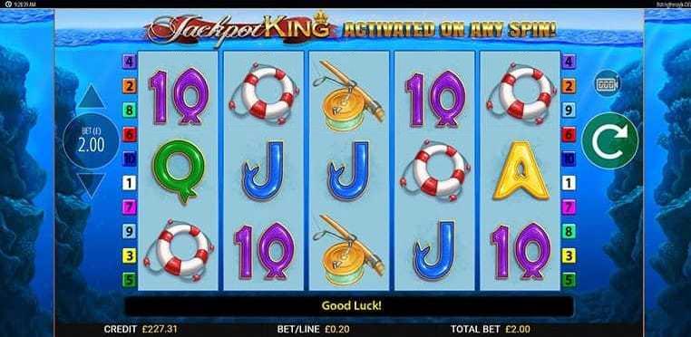 Fishin' Frenzy Jackpot King Slots Game